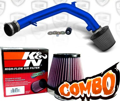 K&N® Air Filter + Spyder® Cold Air Intake System (Blue) - 99-04 VW Volkswagen Jetta IV V6 2.8L