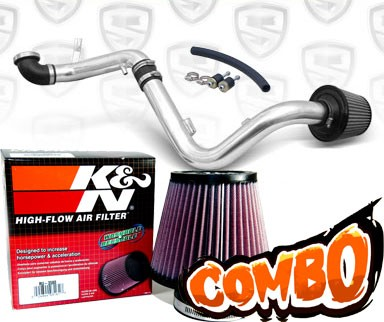 K&N® Air Filter + Spyder® Cold Air Intake System (Polish) - 00-04 Ford Focus 2.0L 4cyl DOHC