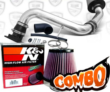K&N® Air Filter + Spyder® Cold Air Intake System (Polish) - 00-05 Mitsubishi Eclipse RS/GS 2.4L 4cyl
