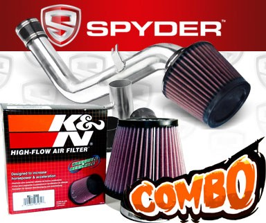 K&N® Air Filter + Spyder® Cold Air Intake System (Polish) - 02-06 Nissan Altima 3.5L V6