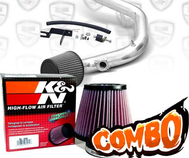 K&N® Air Filter + Spyder® Cold Air Intake System (Polish) - 03-04 Toyota Corolla 1.8L 4cyl