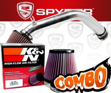 K&N® Air Filter + Spyder® Cold Air Intake System (Polish) - 03-06 Honda Accord 3.0L V6