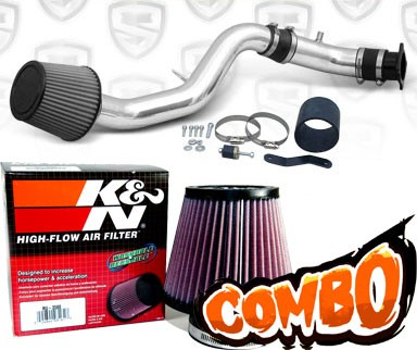 K&N® Air Filter + Spyder® Cold Air Intake System (Polish) - 03-06 Nissan 350Z 3.5L V6