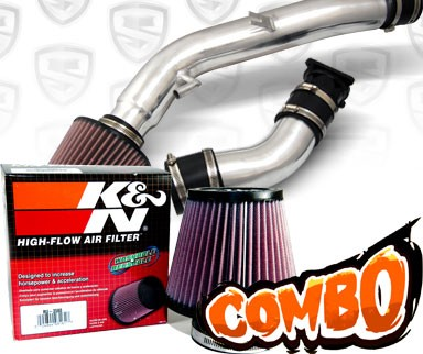 K&N® Air Filter + Spyder® Cold Air Intake System (Polish) - 03-07 Infiniti G35 2dr Coupe 3.5L V6 (AT)