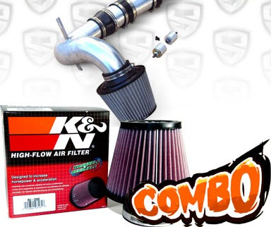 K&N® Air Filter + Spyder® Cold Air Intake System (Polish) - 04-11 Mazda RX8 RX-8 1.3L