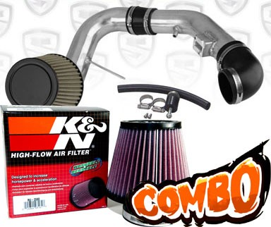 K&N® Air Filter + Spyder® Cold Air Intake System (Polish) - 05-08 Chevy Cobalt SS 2.4L 4cyl