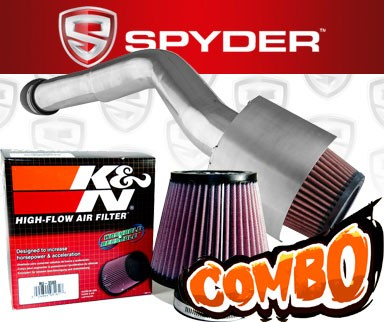 K&N® Air Filter + Spyder® Cold Air Intake System (Polish) - 05-10 Jeep Grand Cherokee 3.7L V6