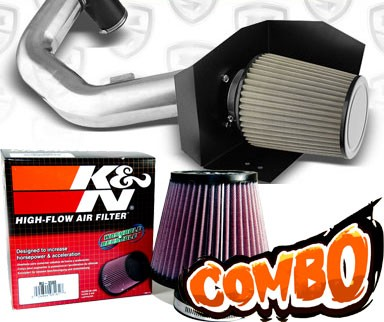 K&N® Air Filter + Spyder® Cold Air Intake System (Polish) - 06-08 Lincoln Mark 5.4L V8
