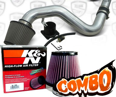 K&N® Air Filter + Spyder® Cold Air Intake System (Polish) - 06-09 VW Volkswagen Jetta 2.0T 2.0L 4cyl