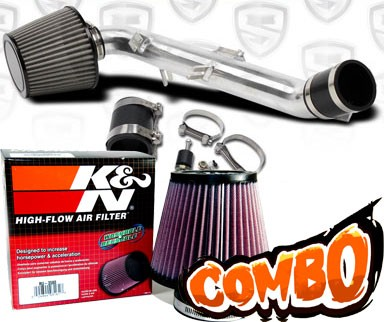 K&N® Air Filter + Spyder® Cold Air Intake System (Polish) - 06-12 Toyota Yaris 1.5L 4cyl