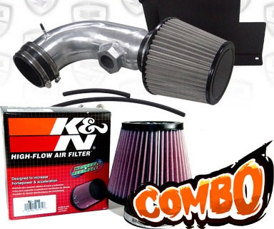 K&N® Air Filter + Spyder® Cold Air Intake System (Polish) - 07-12 BMW 328i E90/E92/E93 3.0L 6cyl