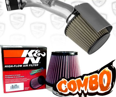 K&N® Air Filter + Spyder® Cold Air Intake System (Polish) - 07-12 Nissan Altima 2.5L 4cyl