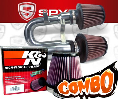 K&N® Air Filter + Spyder® Cold Air Intake System (Polish) - 08-10 BMW 135i 3.0L L6 E82/E88