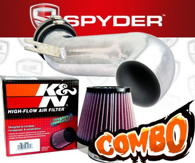 K&N® Air Filter + Spyder® Cold Air Intake System (Polish) - 08-10 Cadillac CTS 4dr 3.6L V6