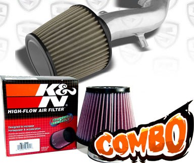 K&N® Air Filter + Spyder® Cold Air Intake System (Polish) - 08-10 Pontiac G6 2.4L 4cyl (with Air Pump)