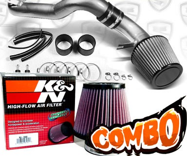 K&N® Air Filter + Spyder® Cold Air Intake System (Polish) - 08-12 Honda Accord V6 3.5L