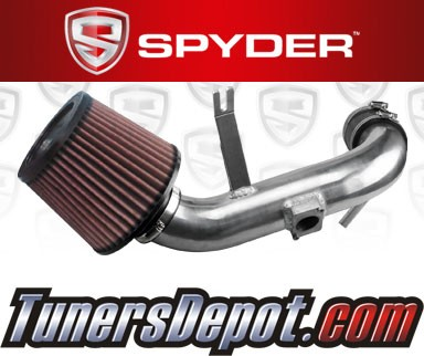 K&N® Air Filter + Spyder® Cold Air Intake System (Polish) - 08-13 Mitsubishi Lancer 2.0L 4cyl Non-turbo