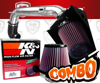 K&N® Air Filter + Spyder® Cold Air Intake System (Polish) - 09-10 Ford F150 F-150 5.4L V8