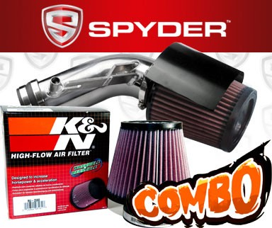 K&N® Air Filter + Spyder® Cold Air Intake System (Polish) - 09-16 Nissan Maxima 3.5L V6
