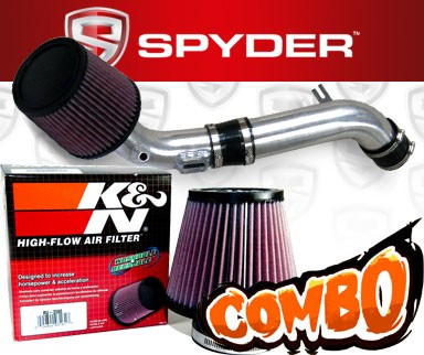 K&N® Air Filter + Spyder® Cold Air Intake System (Polish) - 10-12 Ford Fusion 2.5L 4cyl