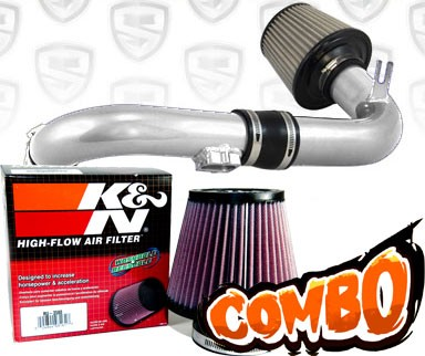 K&N® Air Filter + Spyder® Cold Air Intake System (Polish) - 11-15 Chevy Cruze Turbo 1.4L 4cyl (exc. models with secondary air pump)