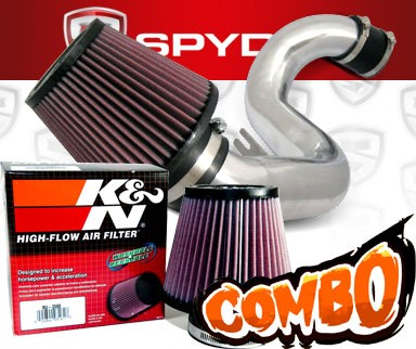 K&N® Air Filter + Spyder® Cold Air Intake System (Polish) - 11-15 Kia Optima 2.4L 4cyl