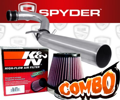 K&N® Air Filter + Spyder® Cold Air Intake System (Polish) - 11-16 Dodge Charger 3.6L V6