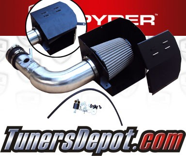 K&N® Air Filter + Spyder® Cold Air Intake System (Polish) - 13-16 Subaru BRZ 2.0L 4cyl