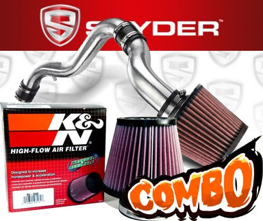 K&N® Air Filter + Spyder® Cold Air Intake System (Polish) - 88-91 Honda CRX 1.6L 4cyl