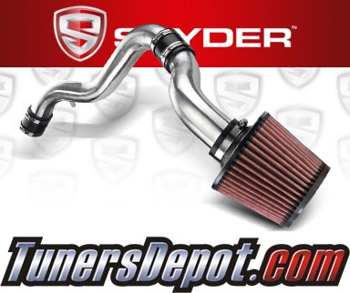 K&N® Air Filter + Spyder® Cold Air Intake System (Polish) - 88-91 Honda Civic 1.6L 4cyl