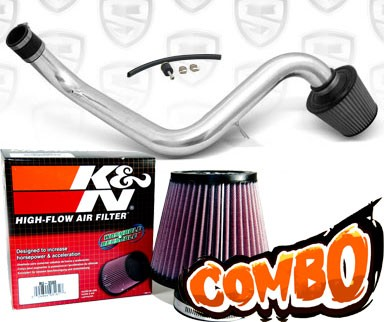 K&N® Air Filter + Spyder® Cold Air Intake System (Polish) - 94-01 Acura Integra Non-Vtec 1.8L 4cyl