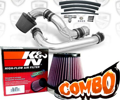 K&N® Air Filter + Spyder® Cold Air Intake System (Polish) - 95-96 Nissan 240SX 2.4L 4cyl