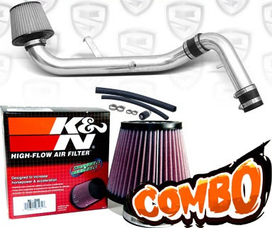 K&N® Air Filter + Spyder® Cold Air Intake System (Polish) - 95-99 Mitsubishi Eclipse Non-Turbo 2.0L 4cyl