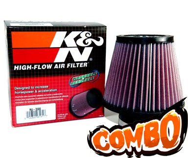 K&N® Air Filter + Spyder® Cold Air Intake System (Polish) - 97-98 Nissan 240SX 2.4L 4cyl
