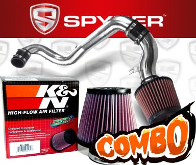 K&N® Air Filter + Spyder® Cold Air Intake System (Polish) - 98-02 Chevy Cavalier 2.2L 4cyl