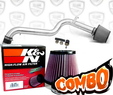 K&N® Air Filter + Spyder® Cold Air Intake System (Polish) - 98-02 Honda Accord 2.3L 4cyl