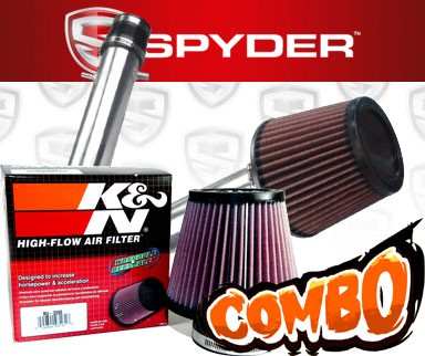 K&N® Air Filter + Spyder® Cold Air Intake System (Polish) - 99-03 Acura TL 3.2 3.2L V6 Base Model