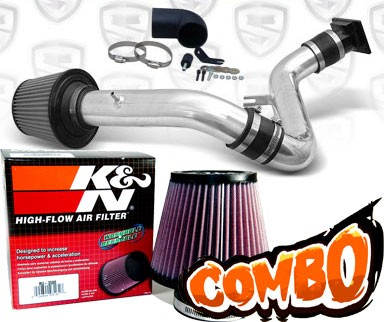 K&N® Air Filter + Spyder® Cold Air Intake System (Polish) - 99-03 Mitsubishi Galant 3.0L V6