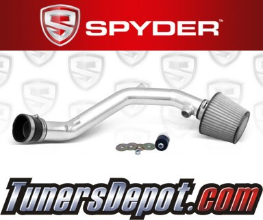 K&N® Air Filter + Spyder® Cold Air Intake System (Polish) - 99-04 VW Volkswagen Jetta IV V6 2.8L
