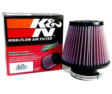 K&N® Air Filter + Spyder® Cold Air Intake System (Red) - 01-05 Honda Civic EX/DX/LX 1.7L 4cyl (AT)