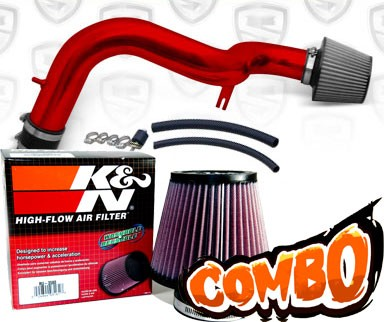 K&N® Air Filter + Spyder® Cold Air Intake System (Red) - 02-03 Acura TL 3.2 Type-S 3.2L V6 (AT)