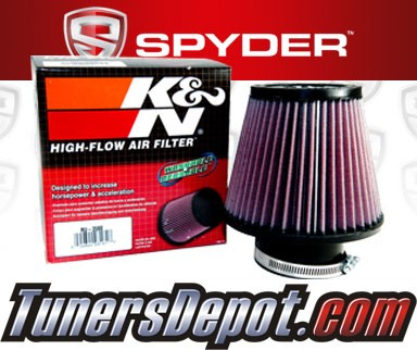 K&N® Air Filter + Spyder® Cold Air Intake System (Red) - 02-05 Honda Civic SI DOHC 2.0L 4cyl