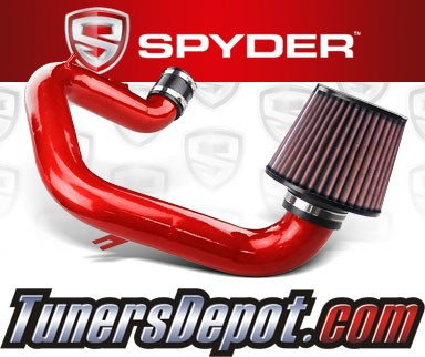 K&N® Air Filter + Spyder® Cold Air Intake System (Red) - 03-04 Toyota Corolla 1.8L 4cyl
