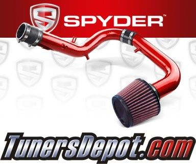 K&N® Air Filter + Spyder® Cold Air Intake System (Red) - 05-06 Scion tC 2.4L 4cyl