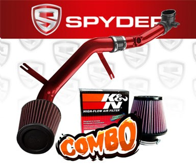 K&N® Air Filter + Spyder® Cold Air Intake System (Red) - 06-09 Mazda MX-5 Miata 2.0L 4cyl