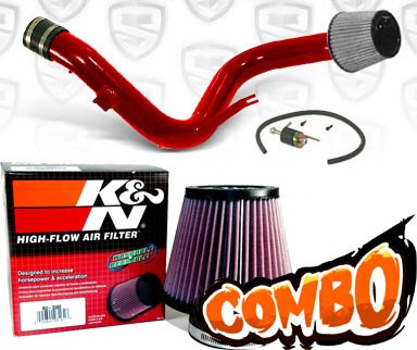 K&N® Air Filter + Spyder® Cold Air Intake System (Red) - 06-10 Mitsubishi Eclipse V6 3.8L (MT)
