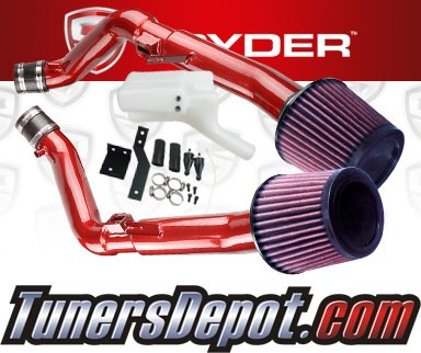 K&N® Air Filter + Spyder® Cold Air Intake System (Red) - 07-08 Infiniti G35 4dr MT 3.5L V6