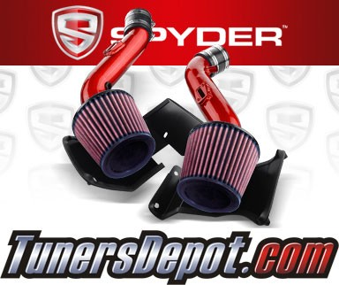 K&N® Air Filter + Spyder® Cold Air Intake System (Red) - 07-09 Nissan 350Z V6 3.5L