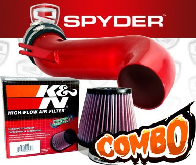 K&N® Air Filter + Spyder® Cold Air Intake System (Red) - 08-10 Cadillac CTS 4dr 3.6L V6