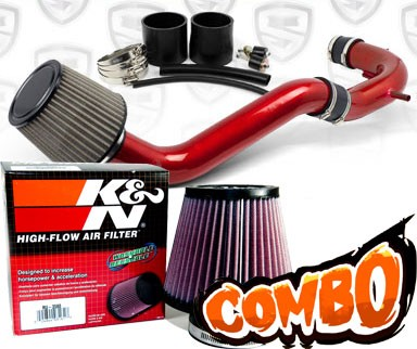 K&N® Air Filter + Spyder® Cold Air Intake System (Red) - 08-12 Honda Accord 4cyl 2.4L